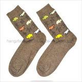 Form-Retro Art färbte gekopierte klare Jacquardwebstuhl-Socken