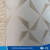 4-12m m templaron el edificio grabado al agua fuerte ácido del vidrio/calculada/haber modelado/laminado/el vidrio reflexivo para la decoración