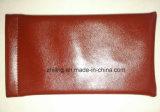 Material de la PU de la alta calidad con el bolso cerrado de los vidrios del metal de la papá