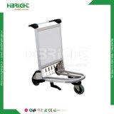 Carretilla de aluminio del bagaje del aeropuerto con el freno de mano