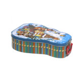 Empuñadura en forma de caja de estaño metálico Almuerzo de Navidad