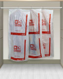 Bolso de ropa polivinílico del LDPE con la base de papel