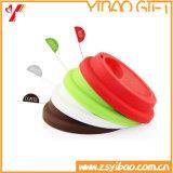 실리콘 음식 급료 커피 잔 뚜껑 자주색 색깔 (XY-FL-175)