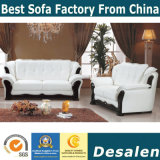 El mejor sofá del cuero genuino de los muebles del pasillo del hotel de la calidad (A05)