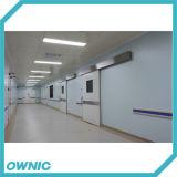 Porte coulissante hermétique d'hôpital du produit Qtdm-4 de projet de courroie et de route