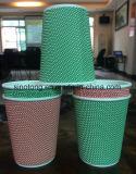 Estilo de parede dupla copos de papel descartável