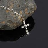 Gouden of Zilveren door 4mm Rozentuin voor de Katholieke Halsband van de Gift Te plateren (iO-Cr420)