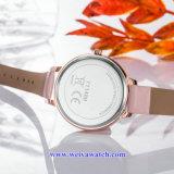 Señora Quartz Wist Watch, relojes de señoras (WY-17027A) de la correa de la aleación del acoplamiento del OEM