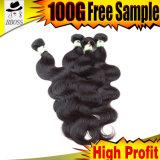 le cheveu indien de Remy de la pente 6A donne à 100 pour cent de cheveu traité