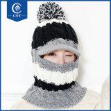 2017の女性のための方法によって合接される帽子の冬のNeckerchief