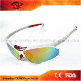 Óculos de sol protetores UV dos esportes dos homens feitos sob encomenda da bicicleta do logotipo para a condução de funcionamento de ciclagem
