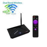Casella astuta istantanea di RAM 16 5GHz WiFi Bluetooth IPTV TV di Pendoo PRO Rk3328 2GB del Android 7.1.2