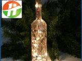 Indicatore luminoso di vetro illuminato decorativo della bottiglia di natale delle bottiglie di vino dell'ornamento della casa di natale del LED LED