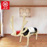 Mini estante animal hecho a mano de madera del vino de China del sostenedor de botella de vino