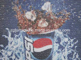 Самоклеящийся двухсторонний черный Перфорированный сетчатый стекла один из способов виниловая пленка