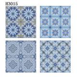 300X300mm blauer Farben-Blumen-Typ Badezimmer-keramischer Fußboden-Fliese-Entwurf