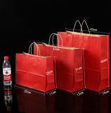 Sac à provisions estampé par luxe recyclable fait sur commande de papier de métier de cadeau de logo