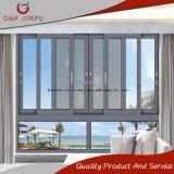 Horizontal fácil abrir ventana corrediza de aluminio con pantalla de insectos