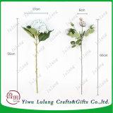 Más calientes al por mayor de 50cm decorativos baratos Hortensia flores de seda artificial
