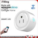 Smart, выходное отверстие с помощью пульта дистанционного управления WiFi мониторинг энергопотребления (AC 100-240 V/10A) , электрический разъем совместим с Alexa, Google Главная Mini, таймер на выходе