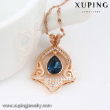 43233 Xuping Últimas elegante Fancy los cristales de Swarovski Collar de Oro de diseños en 5 gramos