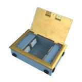 250*180mm Vierecks-goldene seitliche Einlage-geöffneter Typ Fußboden-Kontaktbuchse