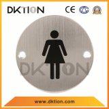 DS016 원형 화장실 적당한 여성 표시 표시 격판덮개