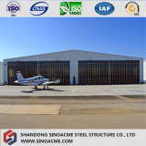 Anti-Rain y fuerte estructura de acero de resistencia sísmica prefabricados Hangar de helicópteros