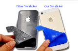 Universalsilikon-Scheckkarte-Beutel, Silikon-Kreditkarte Identifikation-Kartenhalter mit dem 3 m-klebrigen Kleber befestigt iPhone iPad Samsung-GalaxieAndroid Smartphone