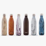 tasse de thermos de véhicule de course de sport de flacons de vide de bouteilles d'eau de kola de bosse de l'acier inoxydable 12oz
