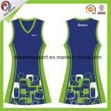 Impressão por Sublimação 100% poliéster vestido Netball Netball Personalizados Jersey
