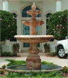 Tallada en mármol Amarillo Querubín Jardín rústico fuente pedestal