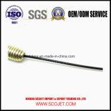 El cable de control con el resorte y a presión la pieza de la fundición