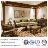 Les meubles de luxe de suite de fini de teck ont placé pour l'hôtel d'étoile (YB-S811)