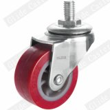 65mm PU 바퀴 빛 의무 PU 피마자 빨강 (G2201)