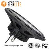 Водонепроницаемая IP65 150W UFO светодиодные лампы отсека высокого с водителем 0-10 V регулятора яркости освещения приборов промышленное освещение