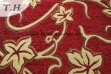 Ткань софы жаккарда синеля 2016 красных цветов от поставщика синеля (FTH31222)