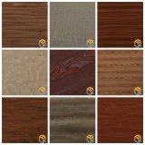 Papel de imprenta decorativo del grano de madera coralino para los muebles, guardarropa del fabricante chino
