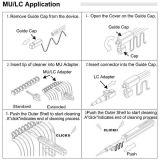 Одн-Щелкните уборщиком оптического волокна Mu LC для Ferrule 2.5mm 1.25mm