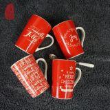 Ontwerp van het Nieuws van de Kop van het Porselein van de Mok van de Koffie van de Bevordering van Kerstmis het Ceramische