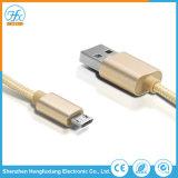 Cavo personalizzato del USB di dati del telefono mobile 5V/2.1A 1m micro