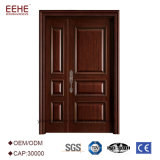 Diseño de talla de madera de la puerta principal para el chalet