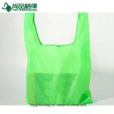 Promotion de sacs de magasinage en polyester pliable sac d'épicerie de pliage