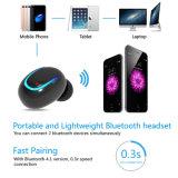 Mini atendimentos invisíveis Earbud do mono auscultadores sem fio inglês de Bluetooth dos auriculares do negócio da voz do fone de ouvido U8 com o Mic para telefones