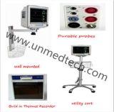De medische Draagbare Geduldige Monitor van de Multiparameter voor Veterinair met het Scherm van de Aanraking