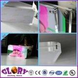 Plastikbildschirmanzeige-Doppeltes versah Acrylfoto-Rahmen mit Magneten mit Seiten