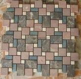 Mosaico di marmo di pietra naturale di arte dell'ardesia per le mattonelle di pavimento cucina/della stanza da bagno