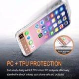 Casos duros de la cubierta del teléfono de la PC de los shelles de IMD del ajuste delgado de parachoques flexible suave azul de la impresión TPU para el iPhone X