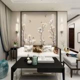 中国の刺繍のソファーの背景幕