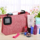 Artículo de tocador impermeable del recorrido del paño del bolso cosmético portable mate de las mujeres para el bolso Bolsas del organizador de señora Wash Makeup Cosmetic Storage